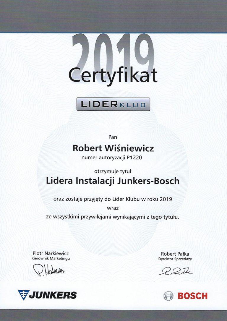 Lider instalacji Junkers Bosch