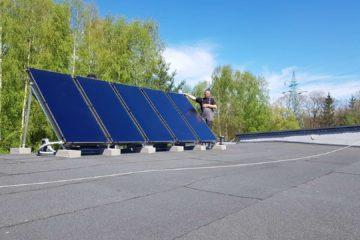 kolektory słoneczne do ciepłej wody użytkowej